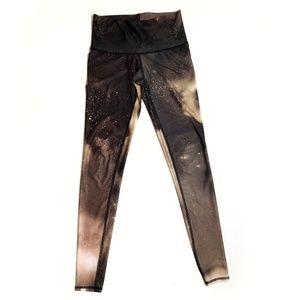 Teeki brown galaxy print full length leggings XS
